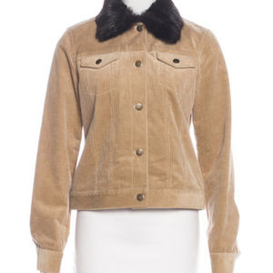 PETITE Theory Corduroy Button-Up Jacket